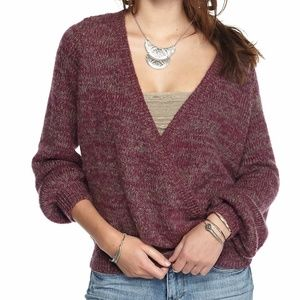 Free People  Karina Wrap fuzzy Sweater  Size XS